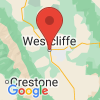 Map of Westcliffe, CO
