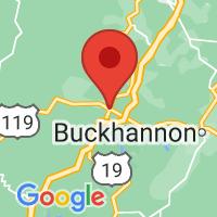Map of Weston, WV