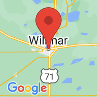 Map of Willmar MN US