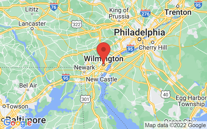 Map of Wilmington, DE US