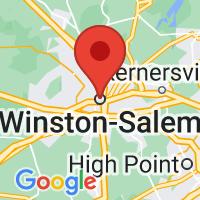 Map of Winston-Salem, NC US