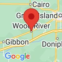 Map of Wood River, NE