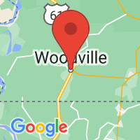 Map of Woodville, MS