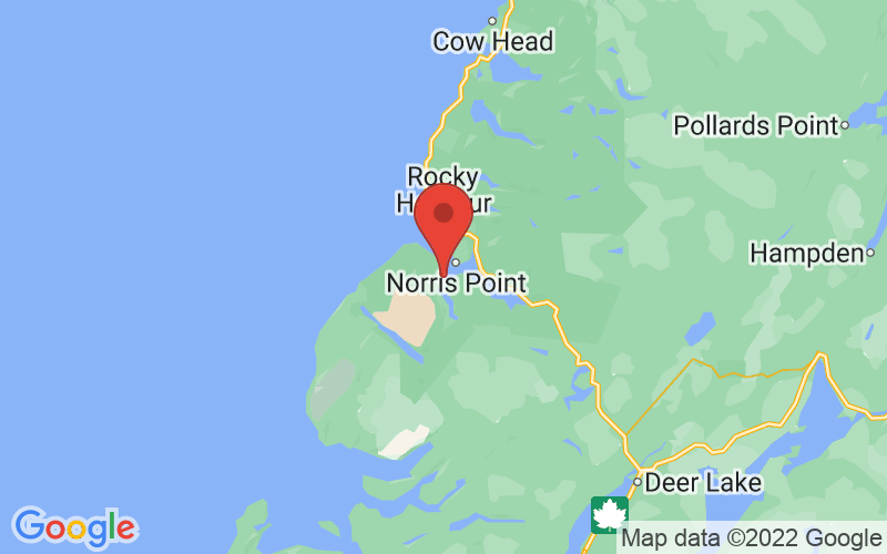 Map of Woody Point, NL US