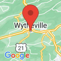 Map of Wytheville, VA US