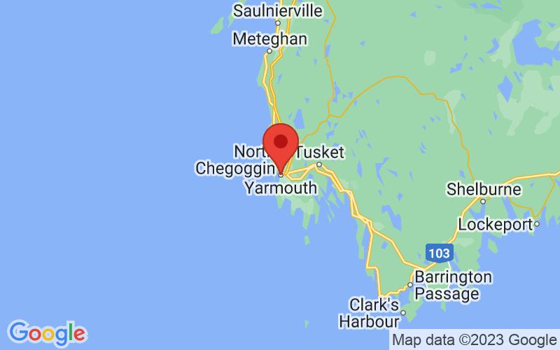 Map of Yarmouth, NS US