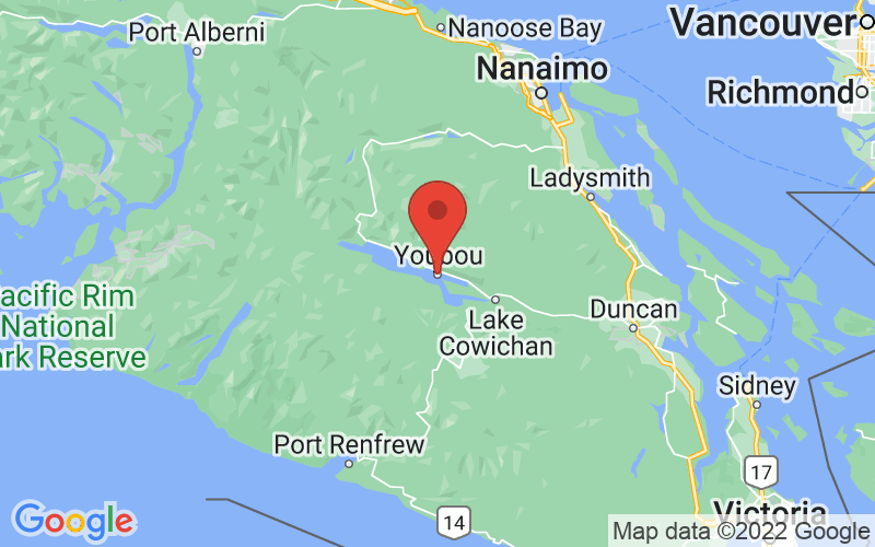 Map of Youbou, BC US