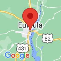 Map of eufaula al US