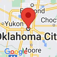Map of oklahoma city OK US